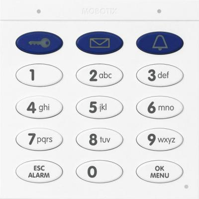 Mobotix beveiligingsdeur controller: Keypad Module With Contactless RFID Technology, Dark grey