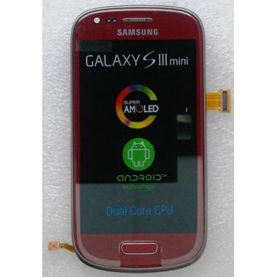 Samsung i8190 Galaxy S III mini, display, touchscreen, red Mobile phone spare part