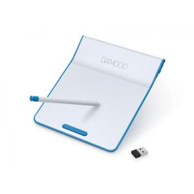 Wacom touch pad: Bamboo - Blauw, Wit