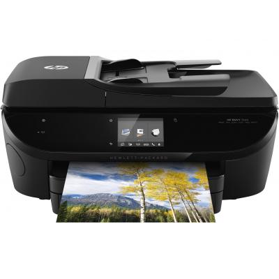 Hp multifunctional: ENVY 7640 e-All-in-One printer - Zwart, Cyaan, Magenta, Geel