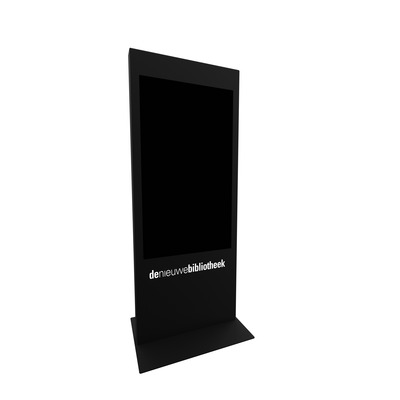 Dekker Industrial Design Informatiezuil 55 inch - LG 55XS2E TV standaard - Zwart,Wit