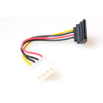 ACT Serial ATA voedingsverloop Kabel haaks 0.15 m