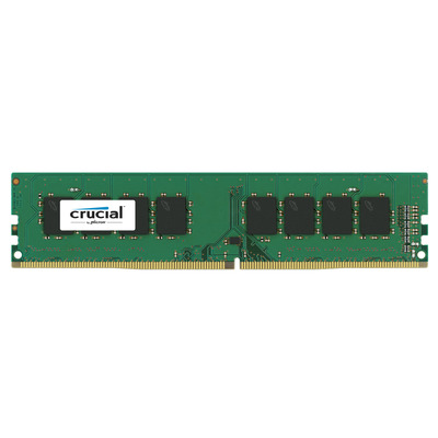 Crucial 4 GB, DDR4, 2666 MHz, CL19, Single Ranked, Unbuffered, NON-ECC, 1.2 V RAM-geheugen