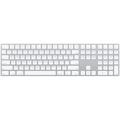 Apple toetsenbord: Magic Keyboard met numeriek toetsenblok - Engels (VS) - Wit, QWERTY