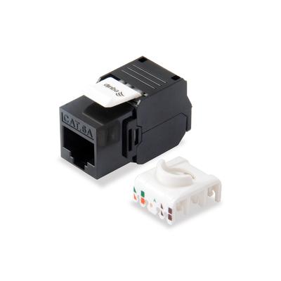 Equip Cat.6A Unshielded Keystone Jack Toolfree, Black Kabel adapter - Zwart