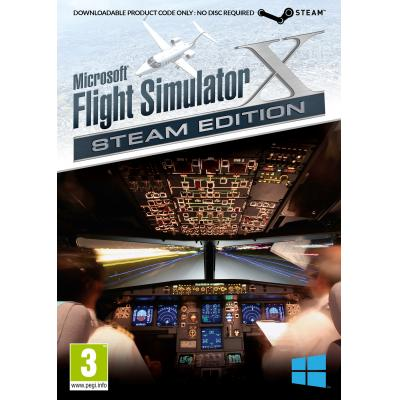 Excalibur game: Microsoft Flight Simulator X (Steam Edition) (Code in a Box)