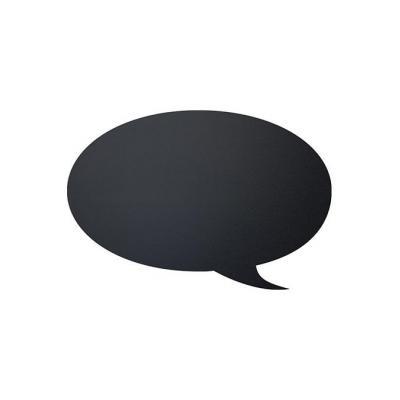 Securit bord: Bubble - Zwart