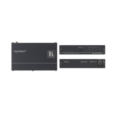 Kramer Electronics Kramer VM-2Hxl Distr. Versterker Video splitter - Zwart