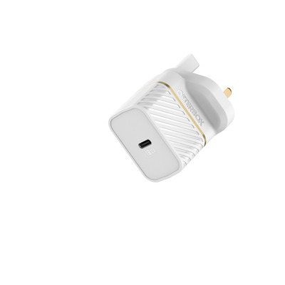 OtterBox UK Wall Charger 18W - 1X USB-C 18W USB-PD, Cloud Dust White Oplader - Wit