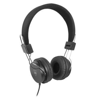 Ewent Stereo, 40mm, 96db, 32 Ohm, 20~20000Hz, 3.5mm, 1.5m Headset - Zwart