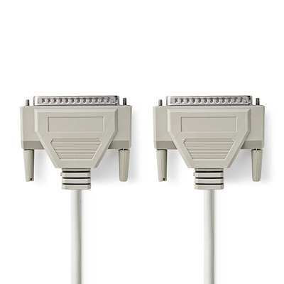 Nedis Seriële Kabel, D-Sub 37-Pins Male - D-Sub 37-Pins Male, 1,0 m, Ivoor