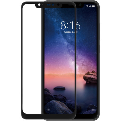 Azuri Tempered Glass flat RINOX ARMOR - zwart frame - Xiaomi Redmi Note 6 Pro Screen protector - Zwart, Transparant