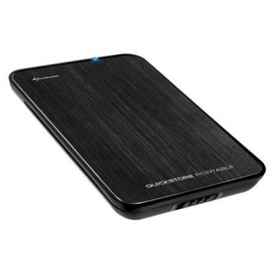 """Sharkoon QuickStore Portable External 6.35 cm (2.5"""") case Black Behuizing - Zwart"""