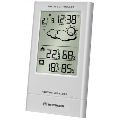 Bresser optics weerstation: Weather Station TempTrend, silver - Zilver