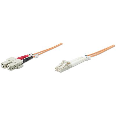 Intellinet Fibre Optic Patch Cable, Duplex, Multimode, LC/SC, 50/125 µm, OM2, 20m, LSZH, Orange Fiber optic .....