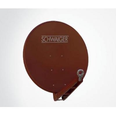 Schwaiger antenne: 85 cm, 10.7 - 12.75 GHz, 39.3 dB - Rood