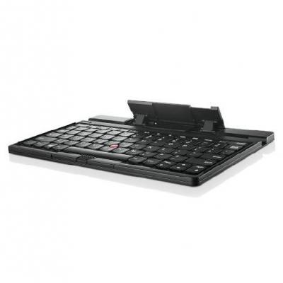 Lenovo mobile device keyboard: ThinkPad Tablet 2 Bluetooth Keyboard with Stand - US International - Zwart, QWERTY
