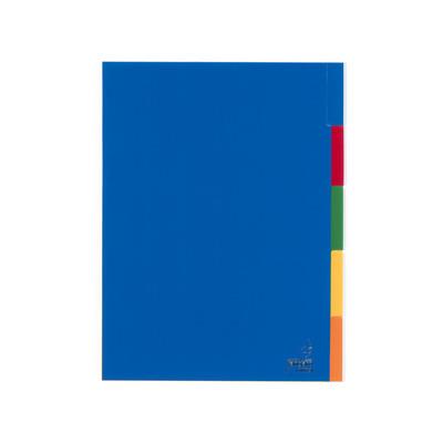 Kangaro Tabblad A4 venster PP 120mµ assorti 23r 5dlg Indextab - Blauw
