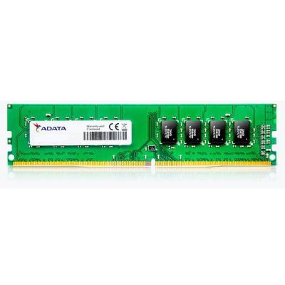 Adata RAM-geheugen: 4GB, DDR4, U-DIMM, 2400MHz, 512MX8