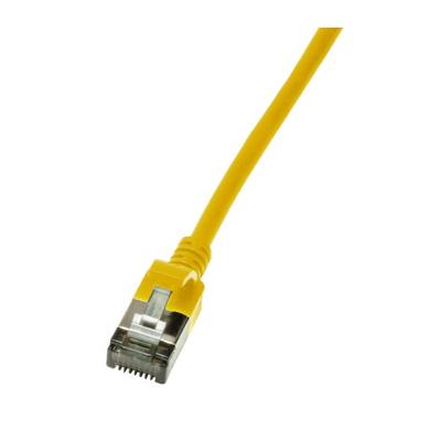 LogiLink Slim U/FTP Netwerkkabel - Geel