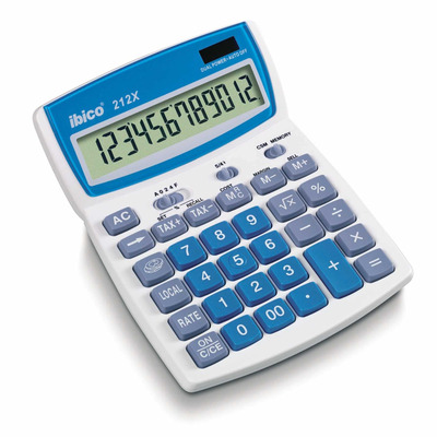Rexel calculator: Ibico 212X Bureaurekenmachine
