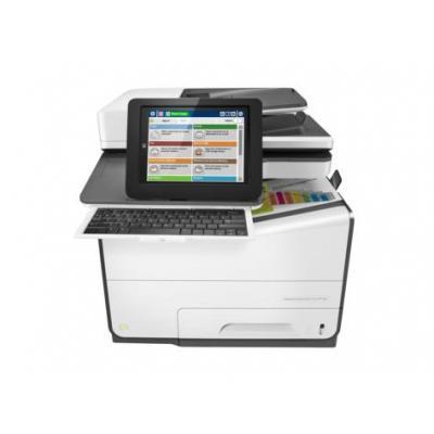 HP multifunctional: PageWide Enterprise Color Flow MFP 586z - Zwart, Cyaan, Magenta, Geel (Demo model)
