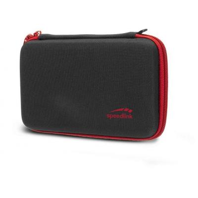 Speed-Link portable game console case: CADDY - Zwart, Rood