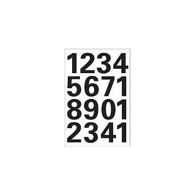 Herma etiket: Numbers 25mm 0-9 weatherproof film black 1 sheet