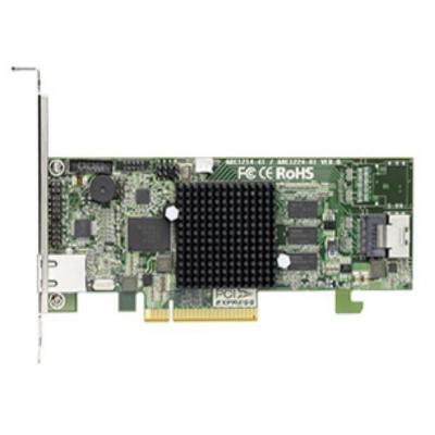 Areca 1xSFF-8087, 4 x 6Gb/s SATA HDDs/SSD, 1GB SDRAM ECC Raid controller