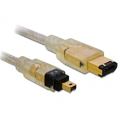 Delock fireware kabel: FireWire A/A, 1.0m - Grijs