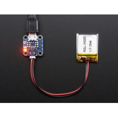 Adafruit : Micro Lipo w/MicroUSB Jack - USB LiIon/LiPoly charger