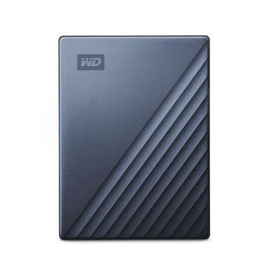 Western Digital 2TB, USB-C, USB 3.0, Windows 10/8.1/7, Blauw Zwart Externe harde schijf - Zwart, Blauw