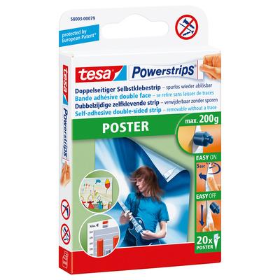 Tesa : Powerstrips POSTER - Wit