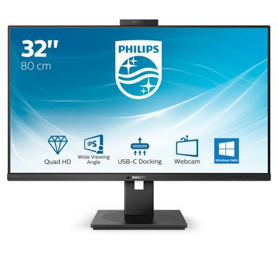 """Philips P-Line 31.5"""" QHD met USB-C-dock Monitor - Zwart"""