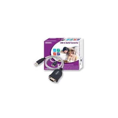 Eminent USB kabel: USB To Serial Converter - Zwart