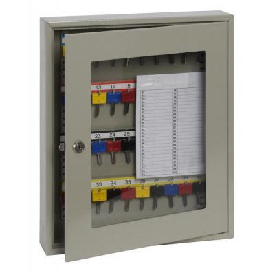 Phoenix sleutelkast: 40 Hook Key, 450 x 380 x 80 mm, Key Lock, 5 kg, Light Grey - Grijs