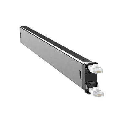PATCHBOX Plus+ Cat.6 Cassette, 50mm x 690mm x 50mm, 0.4kg - Zwart,Zilver,Wit