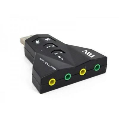 Adj geluidskaart: 7.1 ch, USB 2.0, Black