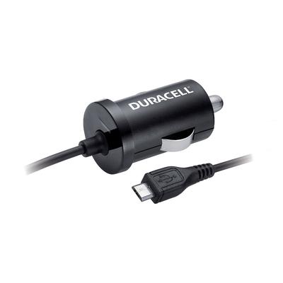 Duracell 12V 1A Car Charger (Micro USB) Oplader - Zwart