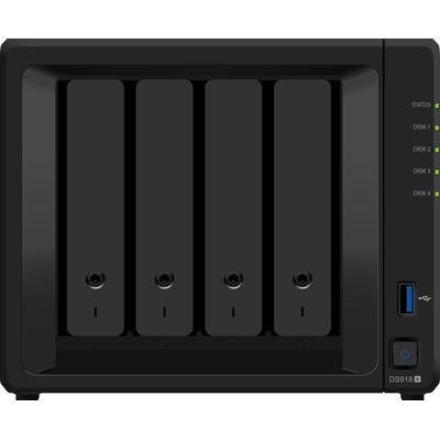 Synology NAS: DiskStation DS918+ - Zwart