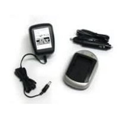 CoreParts AC+DC Combo Adapter Oplader - Zwart, Zilver