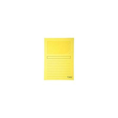Exacompta map: Insteekmap met venster Forever L-model A4, 120 g/m², geel (verpakking 100 stuks)