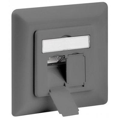 Intellinet wandcontactdoos: 2-RJ45, FTP, 22 to 26 AWG - Grijs