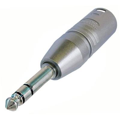 Neutrik 3p XLR NA3MP adapter Kabel adapter - Zilver