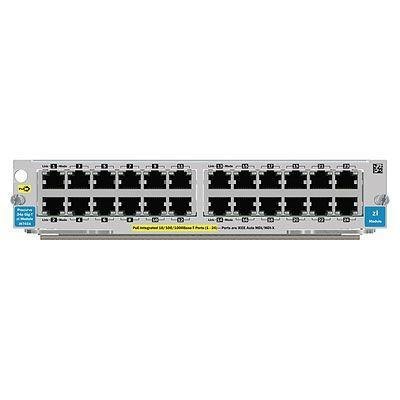 Hewlett packard enterprise netwerk switch module: HP 24-port 10/100/1000 PoE zl Module (Refurbished LG)