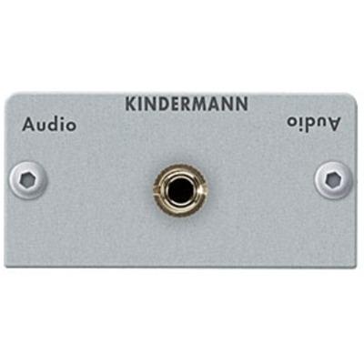 Kindermann Adapter plate Audio jack (3.5 mm stereo) - Zilver
