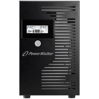 PowerWalker Line-Interactive, 3000VA, 1800W, AVR, C20 Input, 4 x Schuko Outletб LCD, USB UPS - Zwart