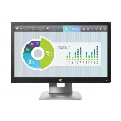 HP monitor: EliteDisplay E202 20-inch (50,8-cm) monitor (ENERGY STAR) - Zwart, Zilver (Approved Selection One .....