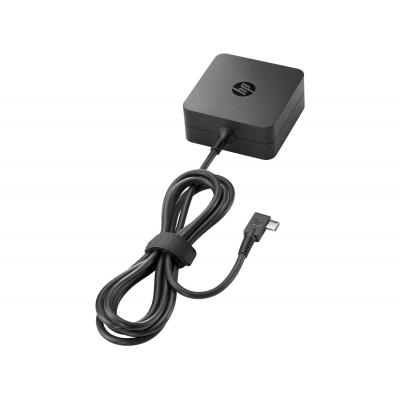 2-power netvoeding: 45W USB Type-C AC Adapter - Zwart