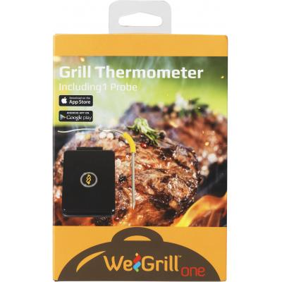 Estuff voedsel thermometer: ESWG1001 WeGrill One Bluetooth Grill Thermometer Single Probe, - Zwart